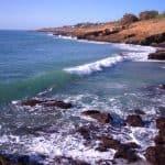 Tipos de fundo: point, reef e beach break